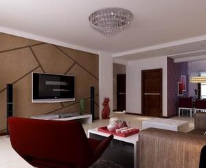 客厅巧克力色背景墙