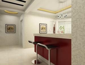 跃层式住宅家庭吧台室内装修效果图