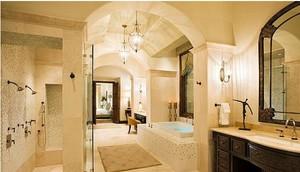田园风格浴室地板砖装修效果图