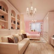 甜美可爱的客厅展示