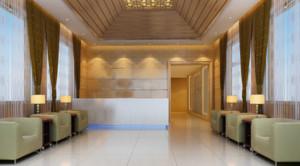 现代简约商务酒店装修效果图