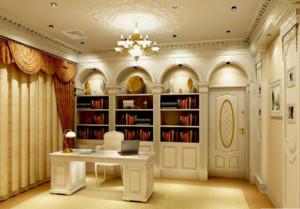 欧式奢华书房装修效果图