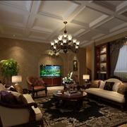 深色调别墅客厅设计