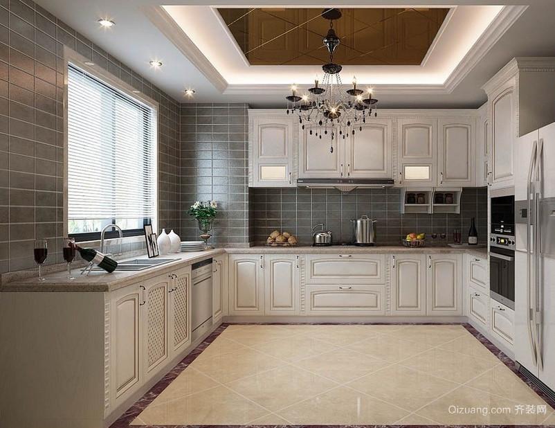 时尚别墅欧式厨房橱柜装修效果图