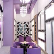 紫色梦幻婚纱影楼