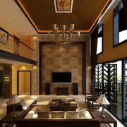 复式楼别具特色的客厅