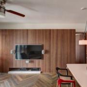 现代简约实木型背景墙