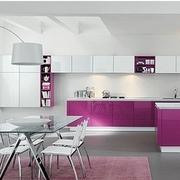 粉色系简约厨房