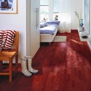 欧式简约型朱红色木地板