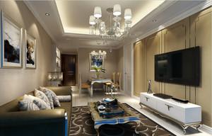别墅现代时尚客厅石膏线吊顶装修效果图