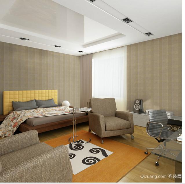 别墅豪华型美式客厅pvc地板背景墙装修效果图