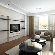 客厅电视背景墙隐形门
