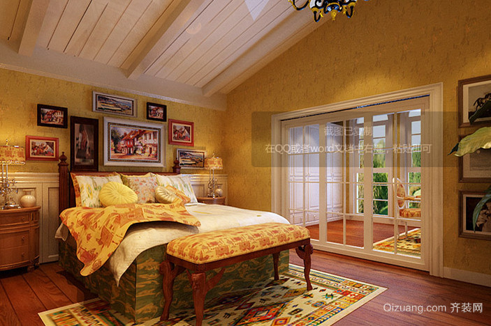 斑斓世界大户型美式风格儿童房设计装修效果图