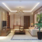 全新中式客厅背景墙