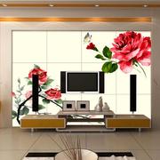逼真电视瓷砖背景墙