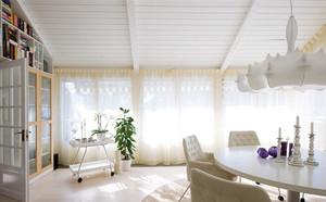 简约居家白色窗帘装修效果图