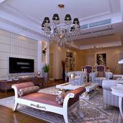纯白色的客厅图片