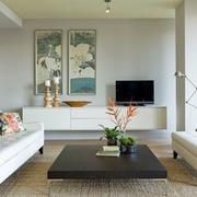 简洁清新客厅图片