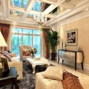 自然风格客厅吊顶装修