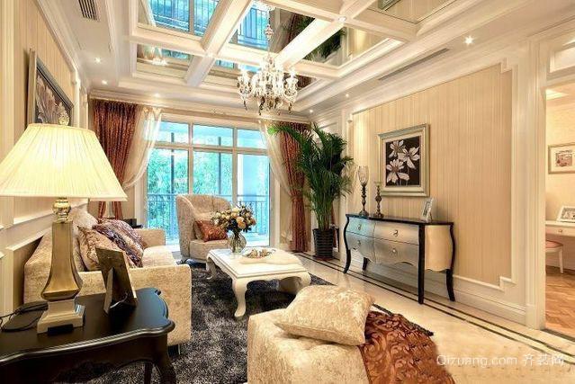 70平米法式客厅吊顶装修效果图