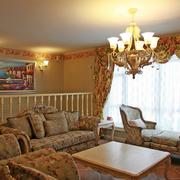清新色美式田园客厅