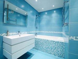 120平米大户型现代精致浴室地砖背景墙装修效果图