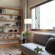 日式客厅简约置物架