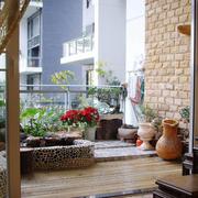 阳台人造池塘展示