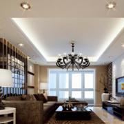 客厅白色吊顶展示