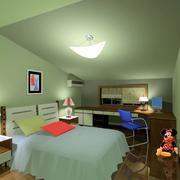 绿色清新卧室图片
