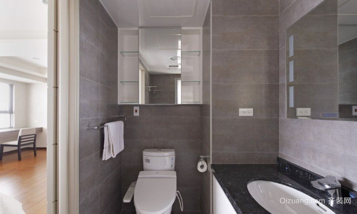 复式楼简约小卫生间装修效果图