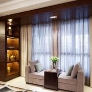 客厅飘逸窗帘展示