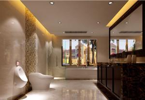 别墅洗手间美式置物架