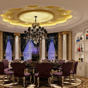 别墅豪华餐厅酒柜