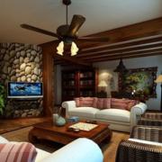 美式复古的客厅