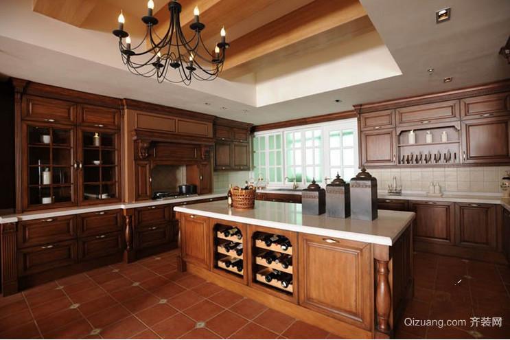现代简约时尚型厨房装修效果图