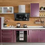 厨房紫色不锈钢橱柜