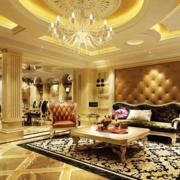 客厅简约优雅金色图