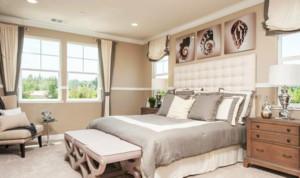 温馨暖色调的卧室图片