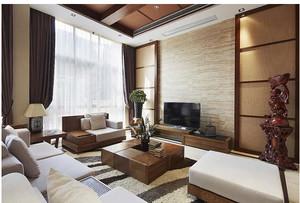客厅实木背景墙图片