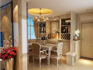 欧式豪华客厅酒柜