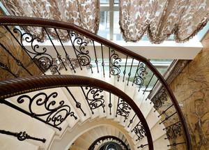 大户型复式楼欧式室内楼梯设计装修效果图