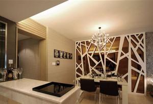 美式三居一厅户型之厨房和小餐厅隔断设计