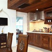 美式新款厨房实景图