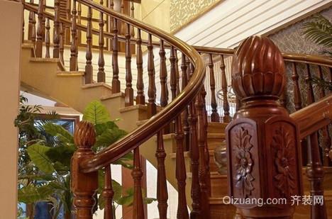 精致实木室内楼梯设计装修效果图