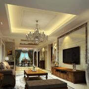 精致美式大户型客厅