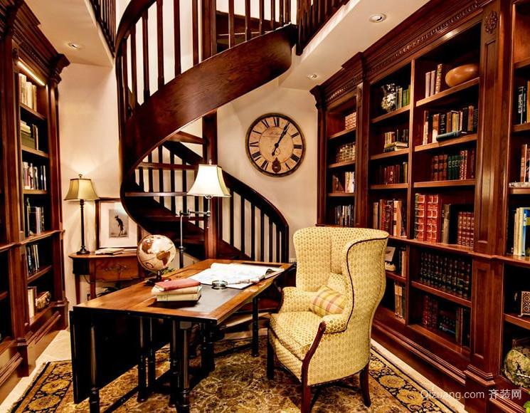 豪华型复式楼实木楼梯装修效果图