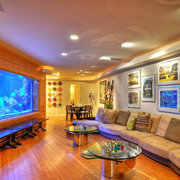 别墅客厅木地板设计