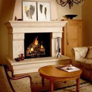 欧式客厅火炉设计