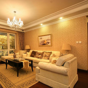 暖色调的客厅欣赏
